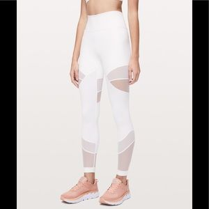 Lululemon Forget the Sweat leggings, 7/8, white, 4